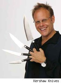 Alton Brown with his knives