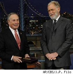 Bloomberg, Letterman