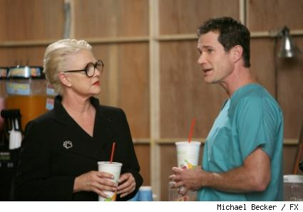 Sharon Gless as Colleen Rose and Dylan Walsh as Dr. Sean McNamara.