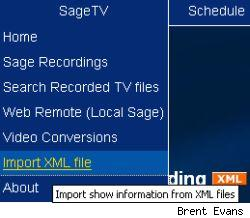 SageTV metadata import