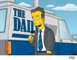 Jon Stewart appears on The Simpsons