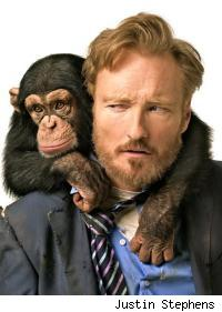 Conan and a chimp