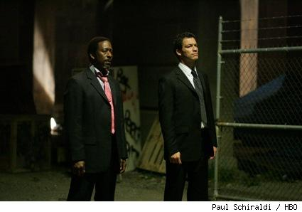 Clarke Peters and Dominic West