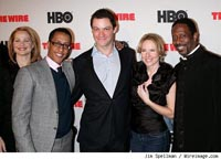 The cast of The Wire