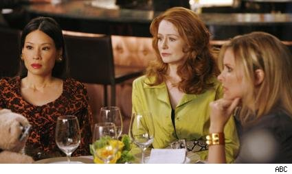 Lucy Liu, Miranda Otto, and Bonnie Somerville