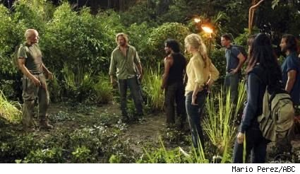 Terry O'Quinn, Josh Holloway, Naveen Andrews, Elizabeth Mitchell, and Matthew Fox