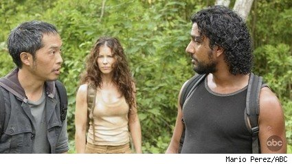 Ken Leung, Evangeline Lilly, and Naveen Andrews