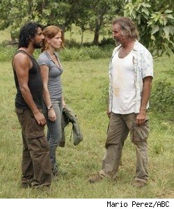 Naveen Andrews, Rebecca Mader, and Jeff Fahey