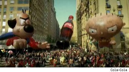 Underdog and Stewie battle it out for a bottle of Coke