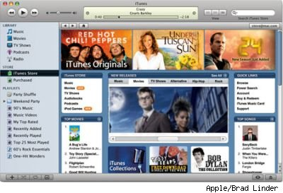 iTunes mockup with Doctor Who