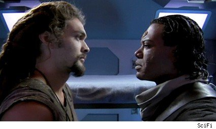 Jason Momoa and Christopher Judge - Stargate Atlantis
