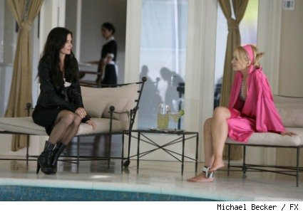 Courteney Cox as Lucy Spiller and Elisabeth Harnois as Milan Carlton