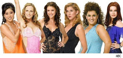 Kristi Yamaguchi, Marlee Matlin, Shannon Elizabeth, Monica Seles, Marissa Winokur, and Priscilla Presley from Dancing With The Stars