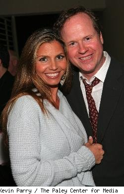 Charisma Carpenter and Joss Whedon