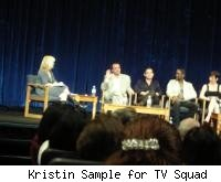 L-R Lynette Rice, Craig Wright, Greg Berlanti, Blair Underwood, Zoe McLellan