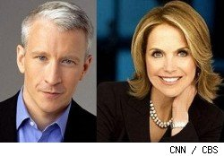 Anderson Cooper and Katie Couric