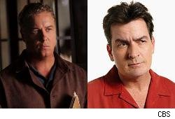 William Petersen and Charlie Sheen