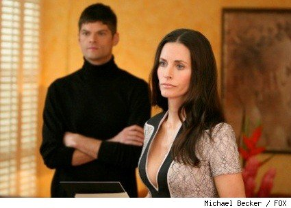 Will McCormack (Leo) and Courteney Cox (Lucy) in the season two finale of 'Dirt.'