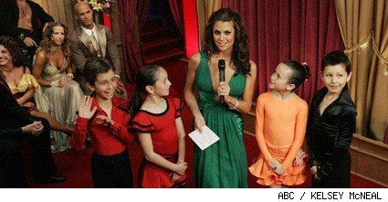 Samantha Harris and the kids of Dancing With The Stars