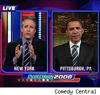 Jon Stewart and Barack Obama