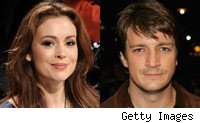 alyssa milano; nathan fillion