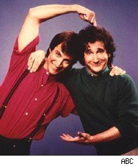 Bronson Pinchot and Mark Linn-Baker of Perfect Strangers