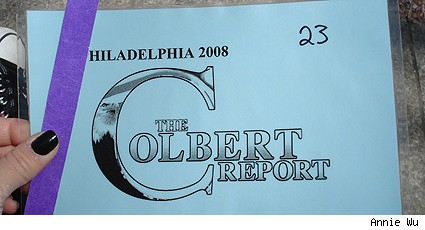 Colbert Report ticket
