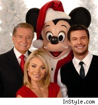 Regis Philbin, Kelly Ripa, Ryan Seacrest and Mickey Mouse
