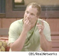 Adam, winner of BB9, picks at his teeth