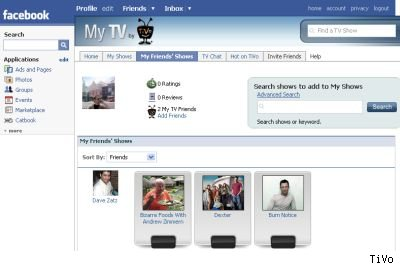 My TV Facebook app