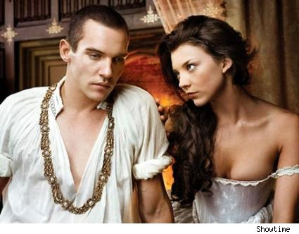 Jonathan Rhys Meyers and Natalie Dormer as King Henry VIII and Anne Boleyn