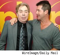 Andrew Lloyd Webber and Simon Cowell