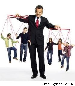 Ray Wise as the Devil, with the rest of Reaper's cast