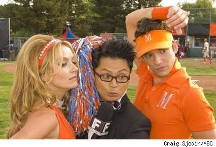 Becki Newton, Alec Mapa, and Michael Urie