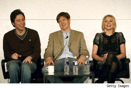 Zach Braff, Bill Lawrence, and Sarah Chalke