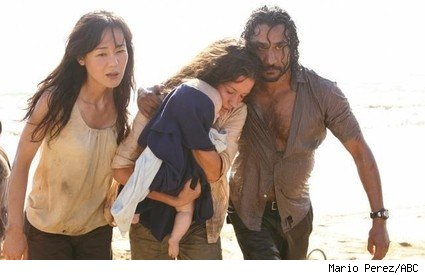 Yunjin Kim, Evangeline Lilly, and Naveen Andrews