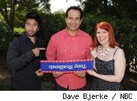 Josh Gomez, Tony Shaloub and Kate Flannery