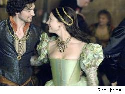 Mark Smeaton and Anne Boleyn 