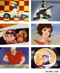 The cast of Speed Racer