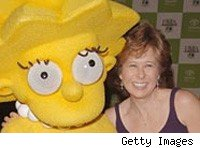 Lisa Simpson and Yeardley Smith