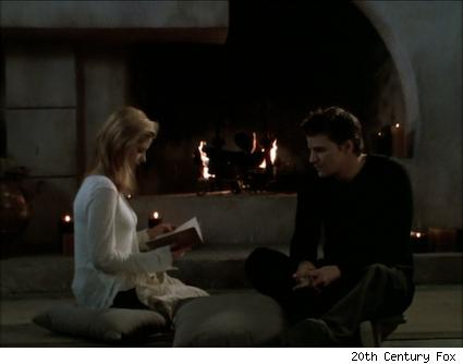 NIgel gives Buffy a book for her birthday