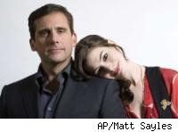 AP Matt Sayles pic of Steve Carell and Anne Hathaway