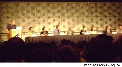 The cast of Smallville at Comic-Con 2008