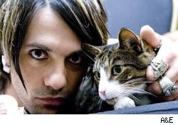 Criss Angel with a kitty