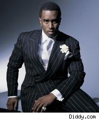 Diddy in a suit
