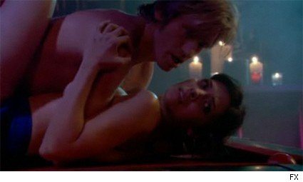 Denis Leary and Callie Thorne