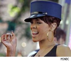 Rihanna in a hat