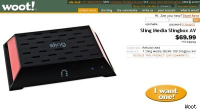 Slingbox AV Woot