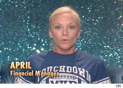 April is the head of house this week on BB10