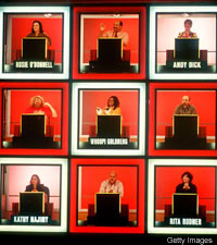 creative image blogs: the classic hollywood squares, Powerpoint templates